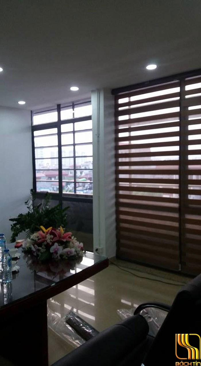 màn sáo cuốn Hàn Quốc màu nâu trơn ở Đà Nẵng