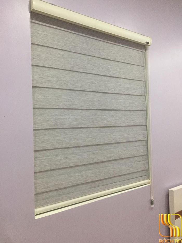 Rèm cửa sổ hai lớp Hàn Quốc màu xám tại Đà Nẵng
