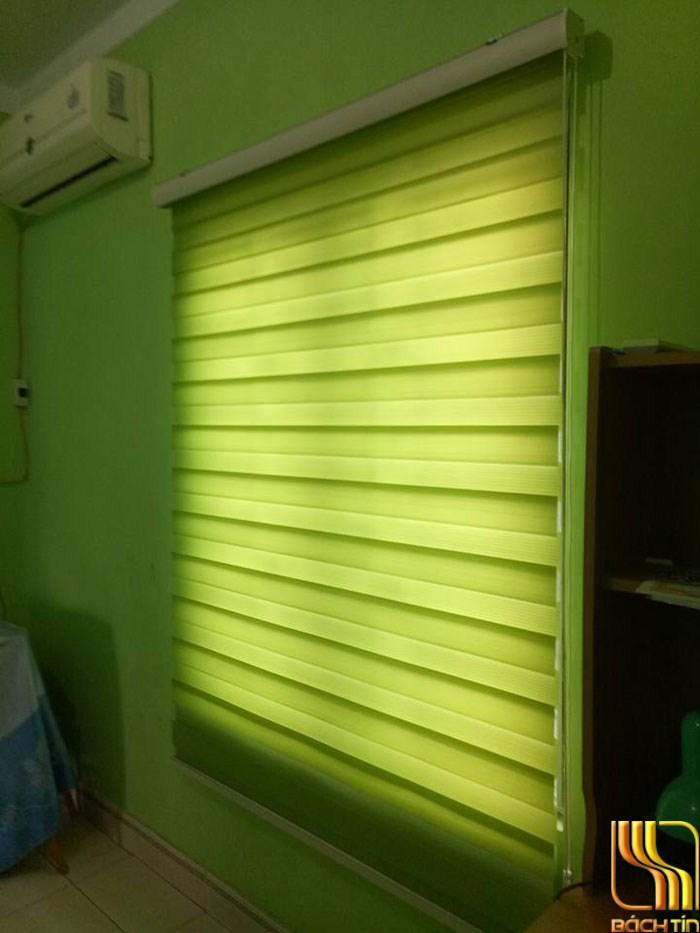Rèm cuốn cầu vồng màu xanh lá cây đẹp ở Đà Nẵng