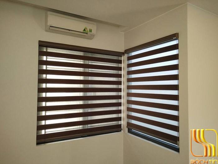 rèm cầu vồng cao cấp màu nâu đậm hiện đại cho phòng ngủ ở Đà Nẵng