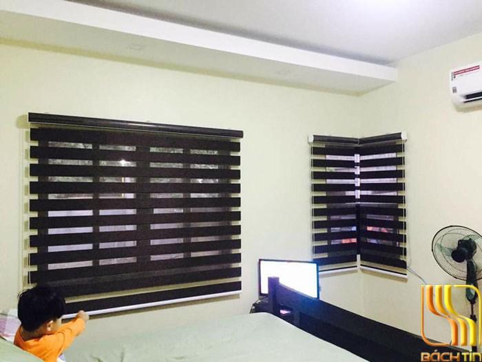 Rèm cuốn 2 lớp chống nắng tối màu ở Đà Nẵng