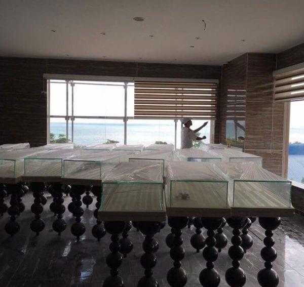 rèm cửa sổ cao cấp cho showroom bán hàng ở Đà Nẵng