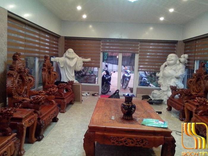 rèm cửa phòng khách cao cấp cuốn 2 lớp ở Đà Nẵng