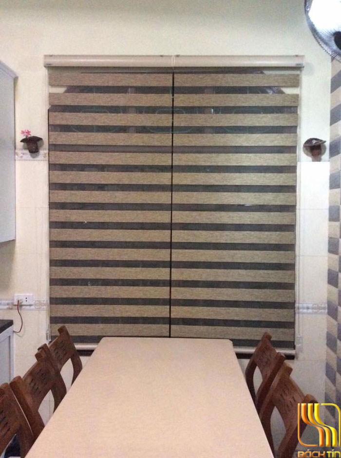 rèm sáo ngang 2 lớp cao cấp cho phòng ăn ở Đà Nẵng