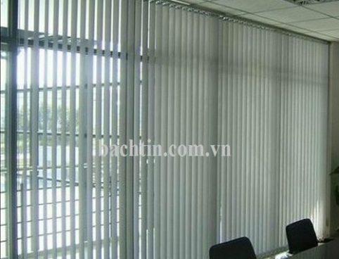 Rèm lá dọc văn phòng màu trắng ghi – Star blinds A306