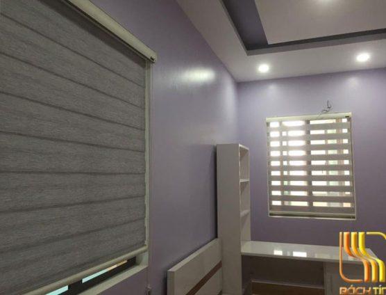 Rèm cửa sổ 2 lớp Hàn Quốc màu xám tại Đà Nẵng