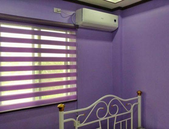 Rèm cuốn cầu vồng cao cấp màu tím cản sáng 70% tại Đà Nẵng