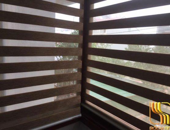 Rèm cuốn cửa sổ loại dày hai lớp màu nâu tại Đà Nẵng