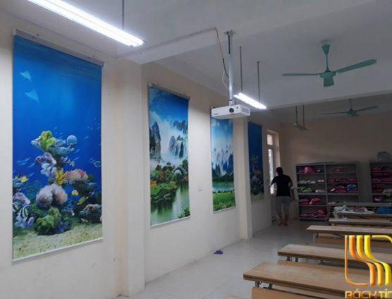 rèm cuốn tranh đẹp cho trường học ở Đà Nẵng
